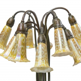 Twelve Light Lily Table Lamp