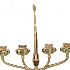 Four Branch Jeweled Candelabrum
