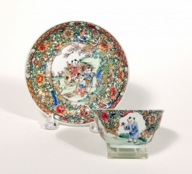 Famille Rose Cup and Saucer