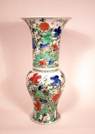 Fine Chinese Famille Verte Porcelain Yenyen Vase