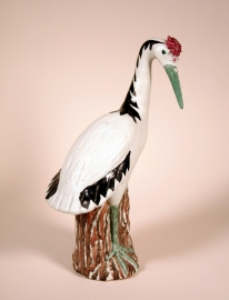 Chinese Export Porcelain Figure of a Crane