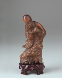 Carved Root Figure of the Daoist Immortal Shoulao