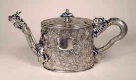 Rare Chinese Export Silver Teapot