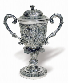Chinese Export Silver Covered Cup