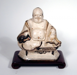 Chinese Cizhou Glazed Figure of Budai