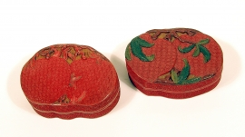 Two Chinese Cinnabar Lacquer Boxes