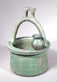 Chinese Green Glazed Pottery Well Head