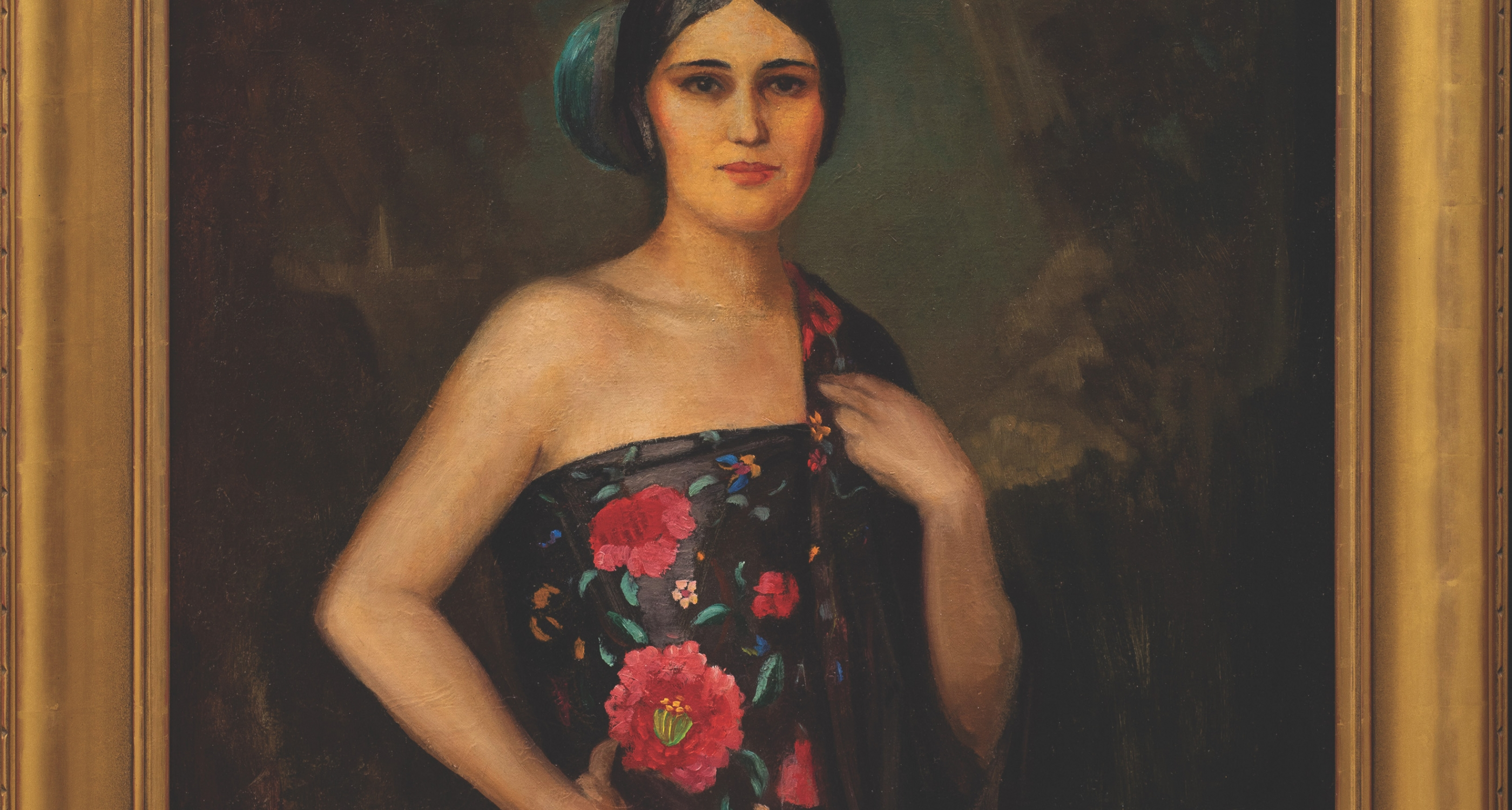 "18. Will Shuster (1893–1969) ""Laurencita,"" oil on canvas, 40 x 30 inches"