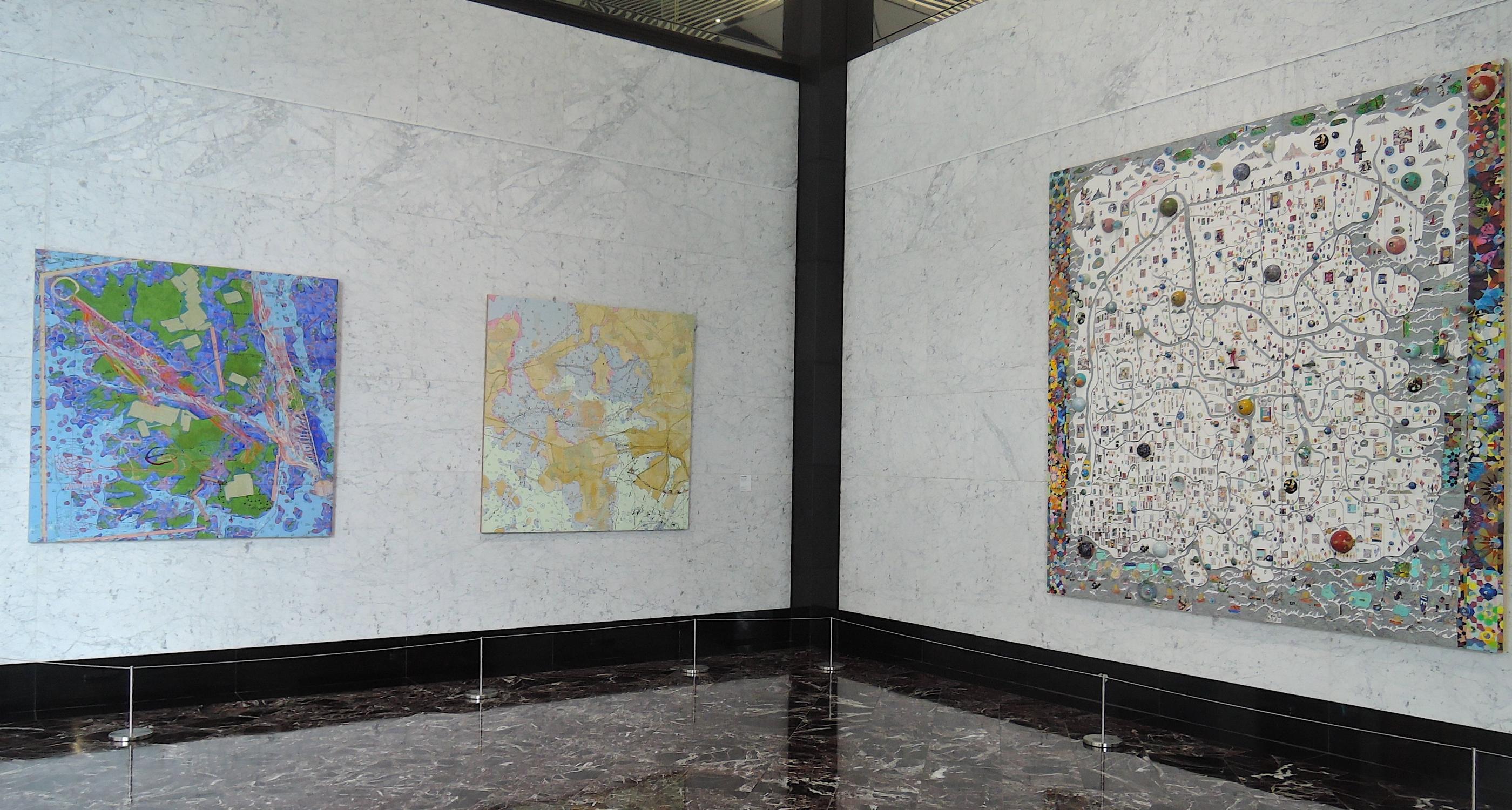 Joyce Kozloff at 375 Hudson/Lobby