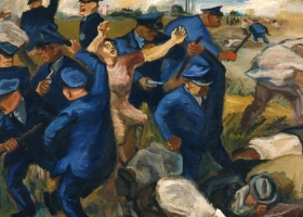 William Gropper, Little Steel, ca. 1937, oil on canvas, 33 3/4 x 44 1/2 inches