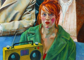 """Xenia Hausner """"Before Life"""" painting detail"""