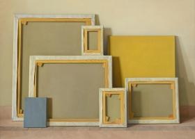 Claudio Bravo Bastidores / Stretchers, 2008 oil on canvas 44 7/8 x 57 5/8 inches