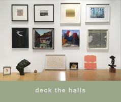 """deck the halls,"" a catalogue of small works for holiday giving ideas"