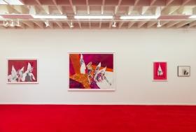 Installation view, Death, Wine, Revolt: Uneventful Days, Wardell Milan Pop-Up Exhibition, Los Angeles, CA, February 9 - 22, 2020