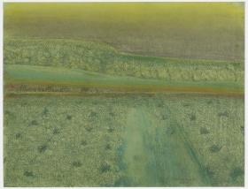 Richard Artschwager Landscape with Green Sky