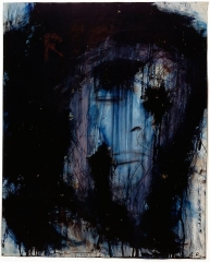 Arnulf Rainer Untitled (Blue self-portrait)