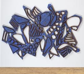 Mel Kendrick Blue Wall 5, 2020