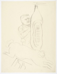George Grosz Fleisher bei der Arbeit (Butcher at Work)