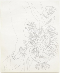 Andy Warhol Foot With Flowers