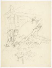 George Grosz Schweineschlachten auf dem Lande (Pig Slaughter in the Countryside)