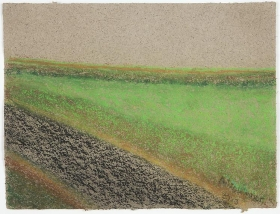Richard Artschwager Horizontal Landscape with Road and Field