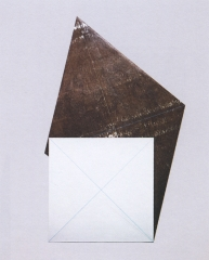 Golden Section Painting: Parallelogram with 2 Small Squares, 1974