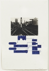 """Barry Le Va, Study for Sculpture, Köln, from the series, """"Connected; Disconnections-- Travel/Thought"""""""
