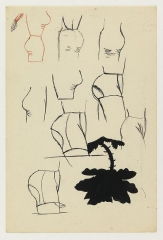 Christina Ramberg Untitled (Hips and a Flower)