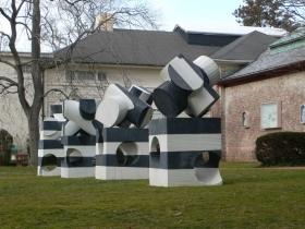 Installation view, jacks, Parrish Art Museum, Southampton, New York, December 15, 2011 - June 5, 2012