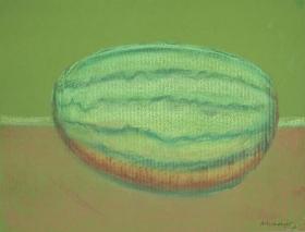 Richard Artschwager Watermelon on Green Paper