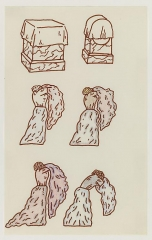 Christina Ramberg Untitled (Figures and Tombs)