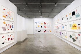 Jorinde Voigt, David Nolan Gallery, New York, 2014, installation view