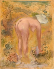George Grosz Artist and Model in the Dunes