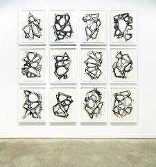 Installation view, Mel Kendrick: Water Drawings, David Nolan Gallery, New York, 2014
