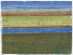 Richard Artschwager Large Landscape with River