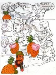 Peter Saul Dali invades Cuba