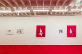 Installation view,Death, Wine, Revolt: Uneventful Days, Wardell Milan Pop-Up Exhibition,Los Angeles, CA, February 9 - 22, 2020