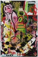 Jonathan Meese GUIDO QUILLERZ A.R.T. IS BACK!, 2018