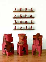 Mel Kendrick Red Blocks