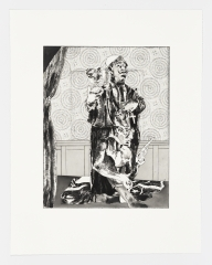The Priest. The Shooter. The Flag., From the etching seriesThe Balcony, 2019