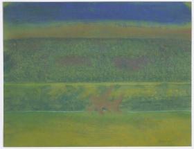 Richard Artschwager Landscape with Purple Bushes