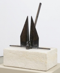 Swallow 1998 bronze and stone