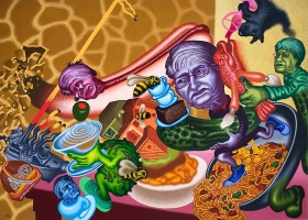 Peter Saul Bad Restaurant