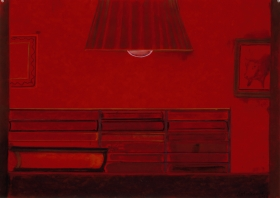 Richard Artschwager Untitled (Red bookcase)
