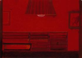 Richard Artschwager Untitled (Red bookcase)