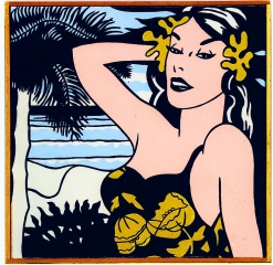 "Richard Pettibone Roy Lichtenstein ""Aloha. 1962."""