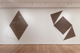 Installation view ofThe Golden Section paintings (1974),Musuem of Modern Art, 2013-2014