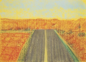 Richard Artschwager Road with Yellow Stripe