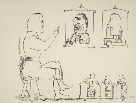 George Grosz(1893-1959) A Lesson for Generations to Come