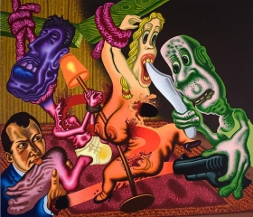 Peter Saul Beckmann's The Night